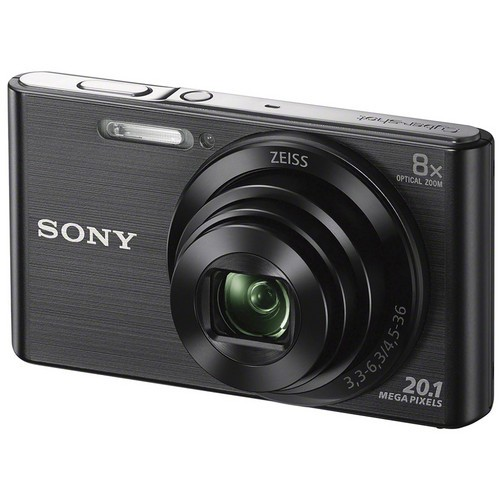 Sony DSC-W830 Digital Camera - Black [Free 16GB SD Card + Camera Case]