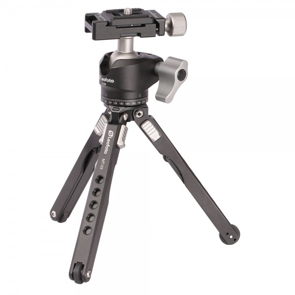 Leofoto MT-01 W/ LH-25 Mini Table Tripod Kit - Silver