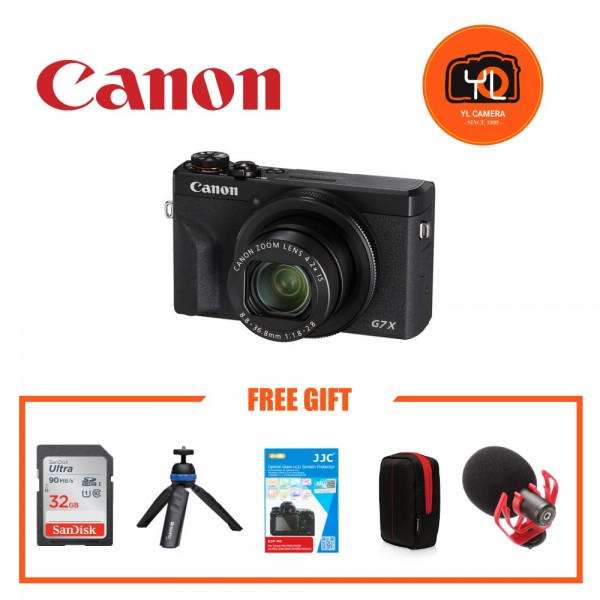 (Promotion) Canon POWERSHOT G7X Mark III - Black (YouTube Creator Kit)