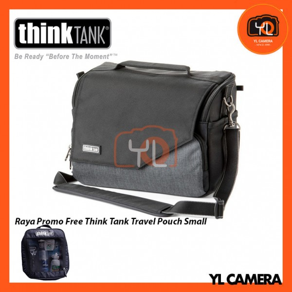 Think Tank Photo Mirrorless Mover 30i Camera Bag (Pewter) Free Think Tank Photo Travel Pouch - Small