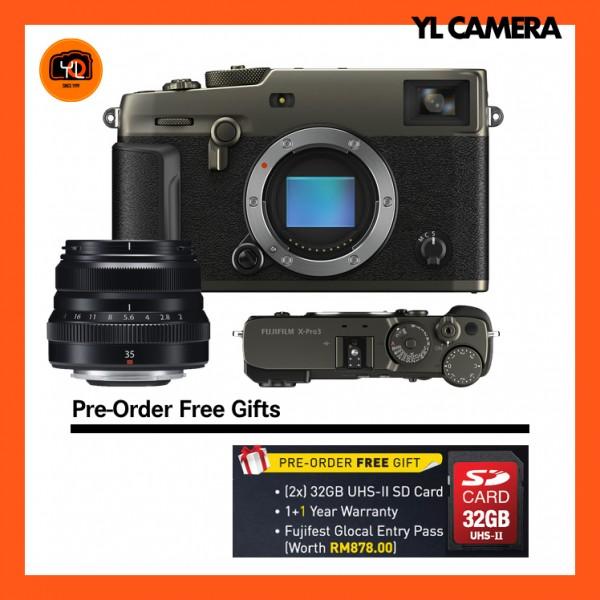 (Pre-Order) Fujifilm X-Pro 3 + XF 35mm F2 R WR (Dura Black)