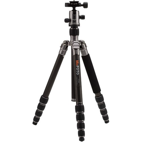 (SPECIAL DEAL) Mefoto C1350Q1 RoadTrip Carbon Fiber Travel Tripod Kit (Titanium)