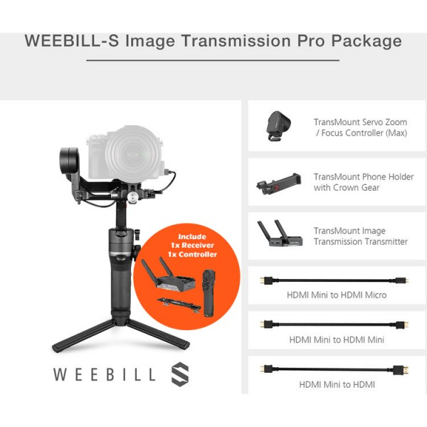 Zhiyun-Tech WEEBILL-S - Image Transmission Pro Package PWP W/ Receiver & Controller