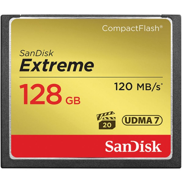 SanDisk 128GB Extreme CF Compact Flash Card (120MB/s)