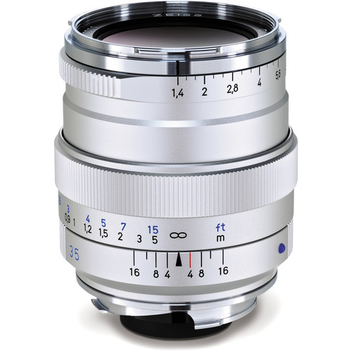 ZEISS Distagon T* 35mm F1.4 ZM Lens (Silver)