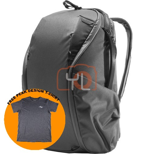 Peak Design Everyday Backpack Zip 20L_Black V2 (Free Peak Design T-Shirt)