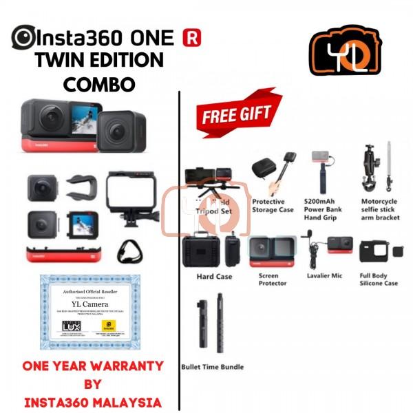 Insta360 ONE R Twin Edition  ( Free Lexar 64GB 1066x Micro SD Card ) - COMBO
