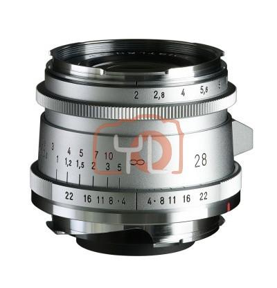 Voigtlander 28mm F2 Ultron Vintage Aspherical VM Lens Type II - Silver (For Leica M-Mount)