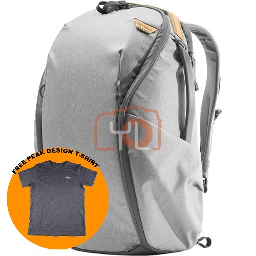 Peak Design Everyday Backpack Zip 20L_Ash V2 (Free Peak Design T-Shirt)