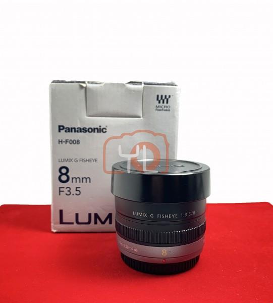 [USED-PJ33] Panasonic 8mm F3.5 Lumix G Fisheye, 90% Like New Condition (S/N:SNOHB001084)
