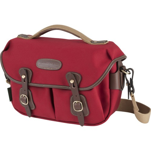 Billingham Hadley Small Pro Shoulder Bag (Burgundy Canvas & Chocolate Leather)