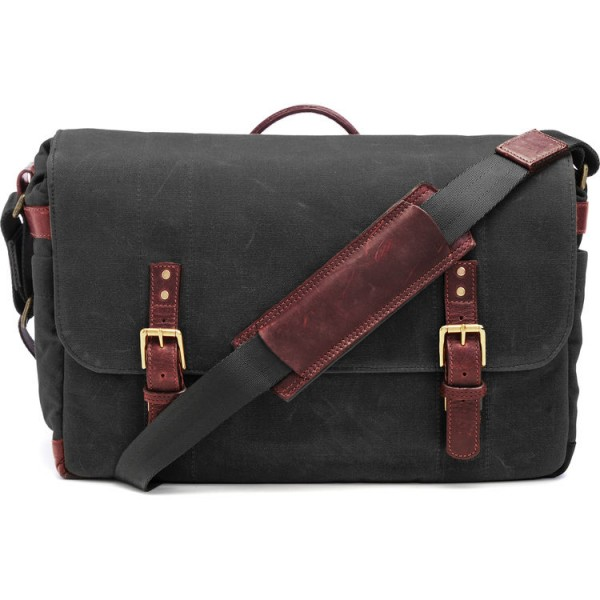 ONA The Union Street Messenger Bag (Black, Waxed Canvas & Leather)