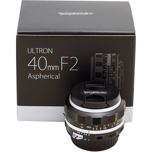 Voigtlander 40mm F2 Ultron SL II S Aspherical Lens - Silver (For Nikon F)