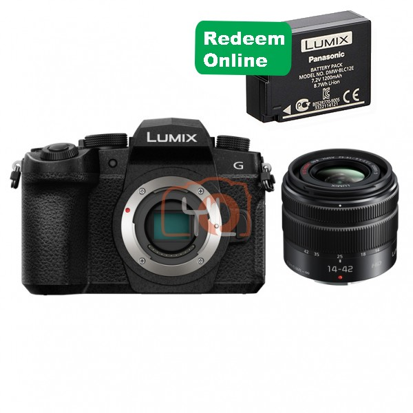 Panasonic Lumix DMC-G95 W/14-42mm [Free Panasonic 16GB SD Card & Carrying Case]