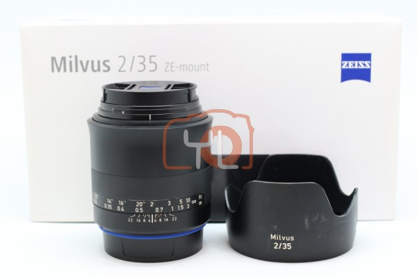 [USED-PUDU] Zeiss 35MM F2 Milvus ZE (Canon), 88% Like New Condition SN:51582008