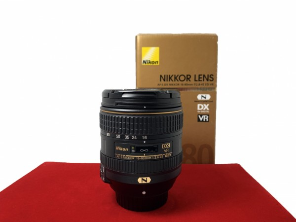 [USED-PJ33] Nikon 16-80MM F2.8 E VR DX AFS, 95% Like New Condition (S/N:215566)