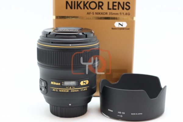 [USED-PUDU] NIKON 35MM F1.4G AFS N 95%LIKE NEW CONDITION SN:237909