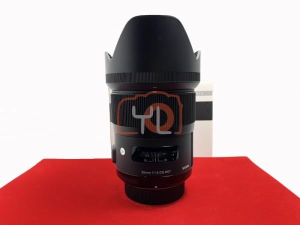 [USED-PJ33] Sigma 35MM F1.4 DG ART (Nikon), 95% Like New Condition (S/N:5216747)
