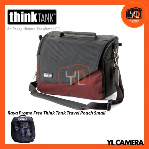 Think Tank Photo Mirrorless Mover 30i Camera Bag (Deep Red) Free Think Tank Photo Travel Pouch - Small
