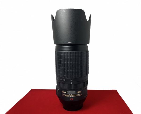 [USED-PJ33] Nikon 70-300MM F4.5-5.6G AFS VR ED Lens,90% Like New Condition,(S/N:2004146)