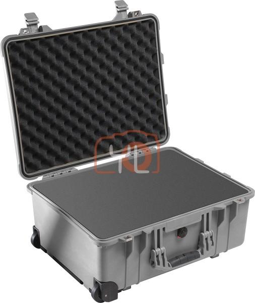 Pelican 1560 Case with Foam (Silver)