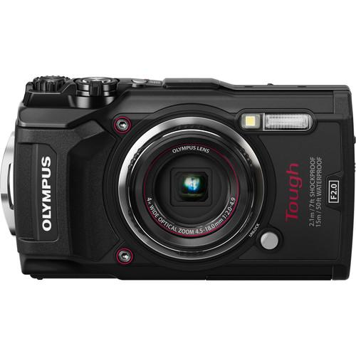 Olympus TG-5 Tough Compact Camera (Black) [Free Lexar 64GB MicroSD Card]