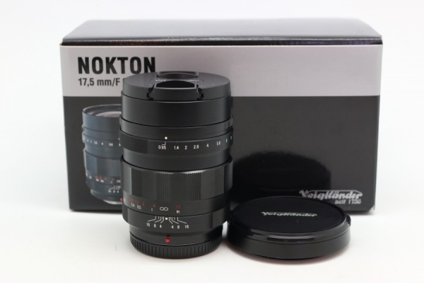 [USED-PUDU] Voigtlander 17.5mm F0.95 Nokton Lens (For Micro Four Thirds) 98%LIKE NEW CONDITION SN:8221494