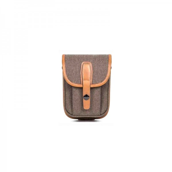 (SPECIAL DEAL) Herringbone Mariene Sidepocket Small Pouch (Brown)
