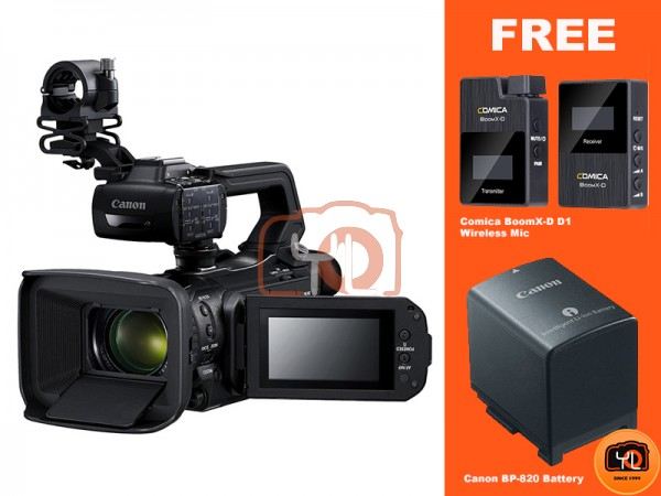 Canon DM-XA50 UHD 4K30 Camcorder with Dual-Pixel Autofocus