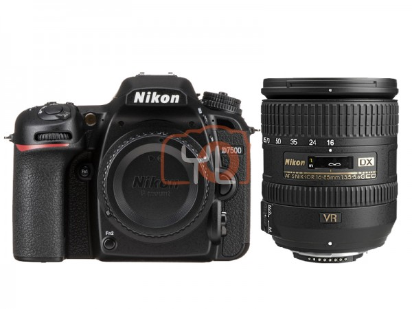 Nikon D7500 + 16-85mm f/3.5-5.6G ED VR (Free 16GB SD Card & Camera Bag)