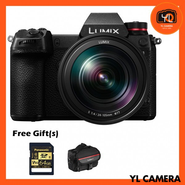 Panasonic Lumix DC-S1 + 24-105mm S F4 [Free Panasonic 64GB SD Card & Camera Bag]