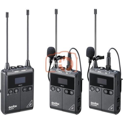 GODOX WMic S1 UHF Wireless Microphone System Kit 2 - TX1 + TX1 + RX1