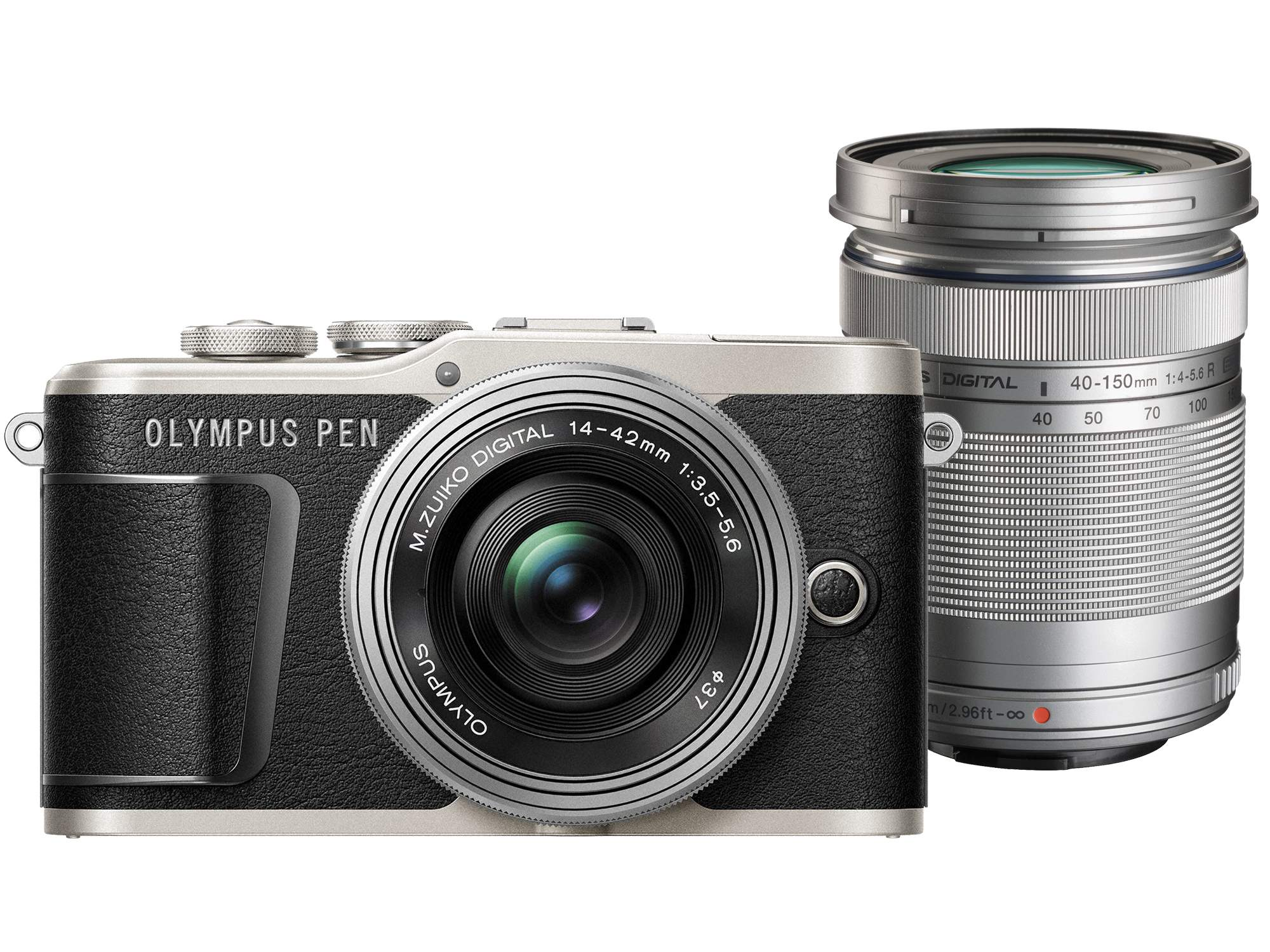 Olympus E-PL9 Twin Lens Kit [14-42mm + 40-150mm] (Black) [Free Lexar 32GB 95MB SD Card + Benro ELZ10 Camera Bag]