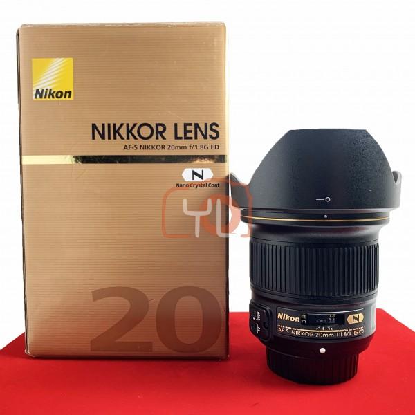 [USED-PJ33] Nikon 20mm F1.8 G AFS, 90% Like New Condition (S/N:238849)