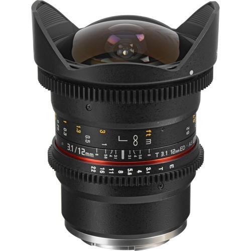 Samyang 12mm T3.1 VDSLR Cine Fisheye Lens for Sony E-Mount