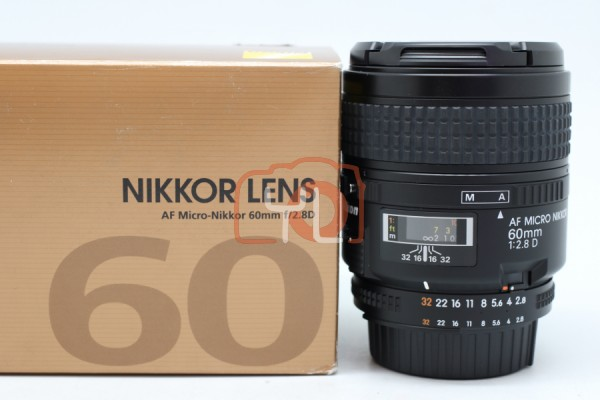 [USED-PUDU] NIKON 60MM F2.8 AFD MICRO LENS 98%LIKE NEW CONDITION SN:5089032