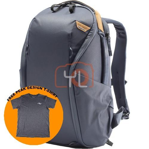 Peak Design Everyday Backpack Zip 15L_Midnight V2 (Free Peak Design T-Shirt)