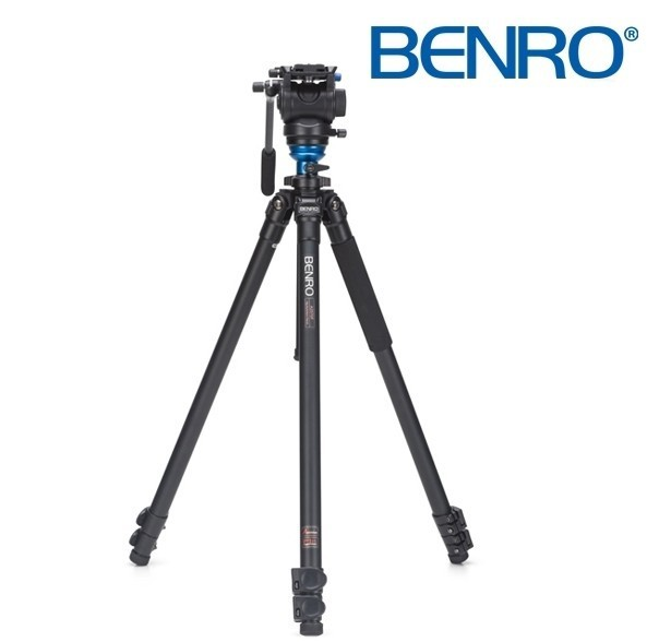 Benro A2573FS4 S4 Video Head and AL Flip Lock Legs Kit