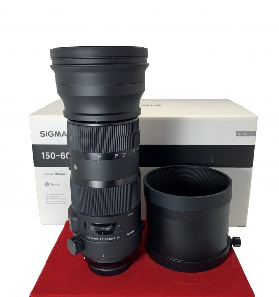 [USED-PJ33] Sigma 150-600MM F5-6.3 DG OS HSM Sports (Canon) , 98% Like New Condition (S/N:53191534)