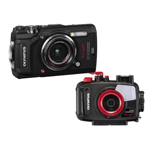 Olympus TG-5 Tough Compact Camera (Black) + Olympus PT-058 Underwater Housing [Free Lexar 64GB MicroSD Card]