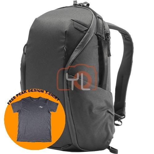 Peak Design Everyday Backpack Zip 15L_Black V2 (Free Peak Design T-Shirt)