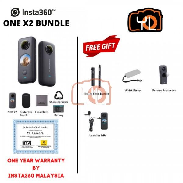 Insta360 One X2 (Free SandDisk 64GB microSD Card 160mb/s + Selfie Stick) - BUNDLE
