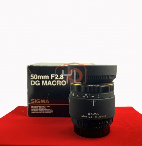 [USED-PJ33] Sigma 50mm F2.8 Macro EX DG (Nikon), 95% Like New Condition (S/N:11440868)