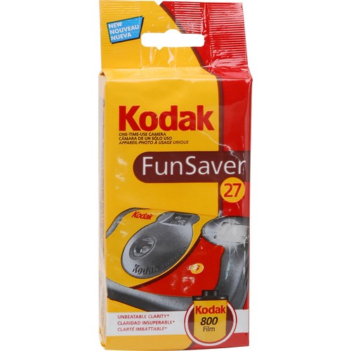 Kodak FunSaver 35mm ISO800 Disposable Camera (27 Exposures)