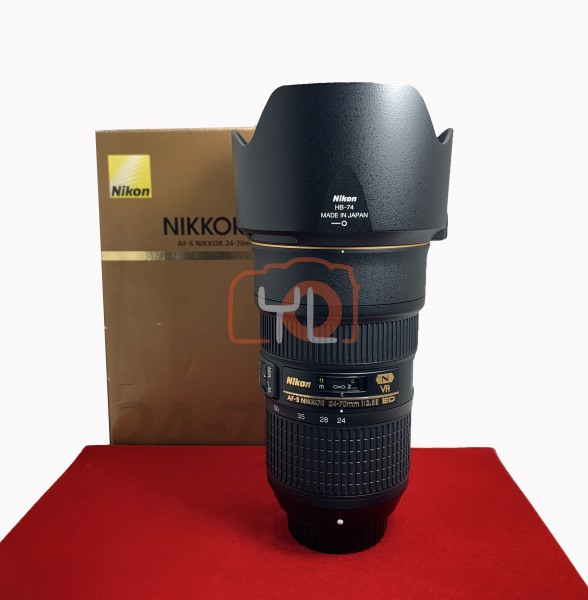 [USED-PJ33] Nikon 24-70mm F2.8 E VR ED AFS , 95% Like New Condition (S/N:2024819)
