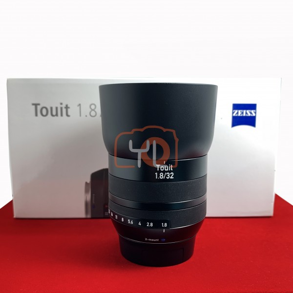 [USED-PJ33] Zeiss 32MM F1.8 Touit (Fujifilm X Mount), 95% Like New Condition (S/N:51037015)