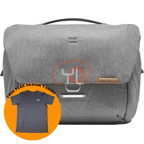 Peak Design Everyday Messenger 13L_Ash V2 (Free Peak Design T-Shirt)