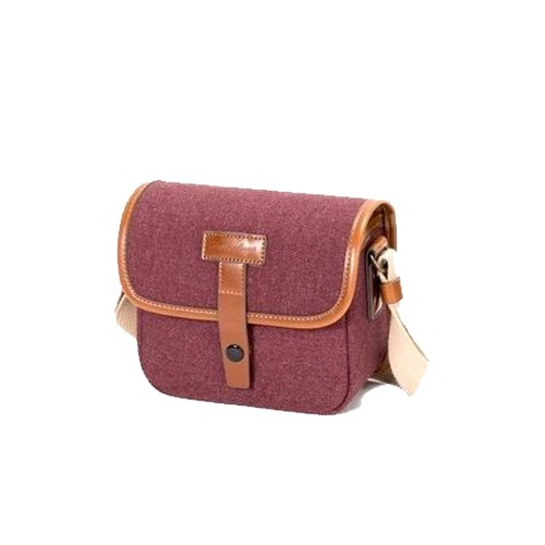 (SPECIAL DEAL) Herringbone Muppen Mini Camera Bag (Wine)