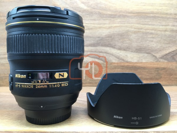 [USED @ YL LOW YAT]-Nikon AF-S 24mm F1.4 G ED N Nikkor Lens,95% Condition Like New,S/N:601450