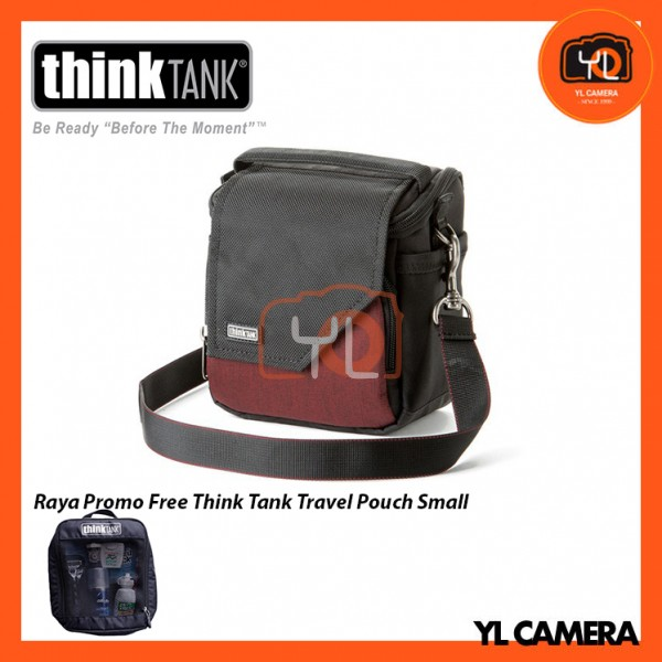 Think Tank Photo Mirrorless Mover 10 Camera Bag (Deep Red) Free Think Tank Photo Travel Pouch - Small